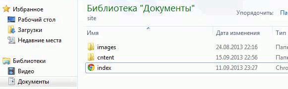 Директория сайта