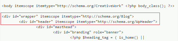 Семантическая разметка шапки блога